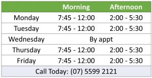 Laurence Irvine Chiropractic clinic hours